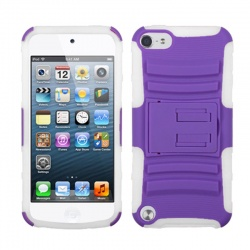 iPod Touch (6th Generation) MYBAT ASMYNA Purple/Solid White Advanced Armor Stand Protector Cover