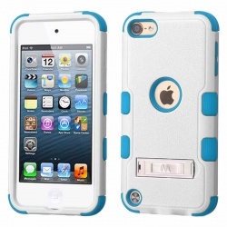iPod Touch (6th Generation) MYBAT Natural TUFF Hybrid Protector Cover Cream White/Tropical Teal(With Stand)