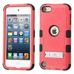 iPod Touch (6th Generation) MYBAT Natural TUFF Hybrid Protector Cover Pink/Black(With Stand)