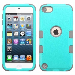 iPod Touch (6th Generation) MYBAT Natural TUFF Hybrid Protector Cover Teal Green/Iron Gray