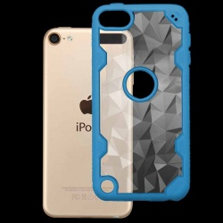 iPod Touch (6th Generation) MYBAT  Transparent Clear Polygon/Dark Blue Challenger Hybrid Protector Cover