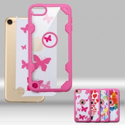 iPod Touch (6th Generation) MYBAT  Transparent Clear/Hot Pink FreeStyle Challenger Hybrid Protector Cover
