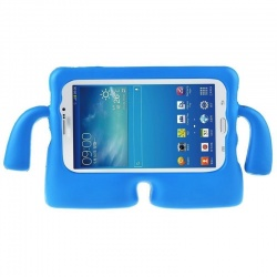 Universal Tablet 10 inch Case for Kids Rubber Shock Proof Cover with Carry Handle Blue
