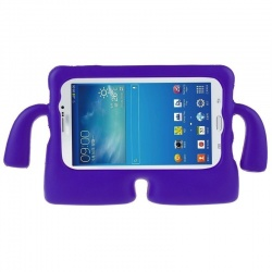 Universal Tablet 10 inch Case for Kids Rubber Shock Proof Cover with Carry Handle Purple
