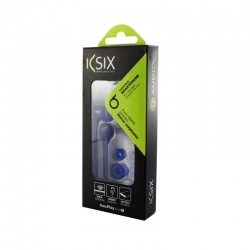 KSIX GO&PLAY SMALL2 EARPHONES WITH MICROPHONE BLUE