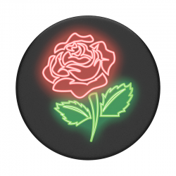 Neon Rose Pop Socket