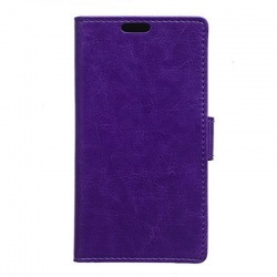Nokia Lumia 640 XL PU Leather Wallet Case Purple