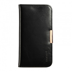 Samsung Galaxy Note 4 Genuine Leather Wallet Case Black