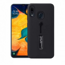 Samsung Galaxy A20e Kickstand Shockproof Cover Black