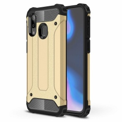 Samsung Galaxy A40 Dual Layer Hybrid Soft TPU Shock-absorbing Protective Cover Gold