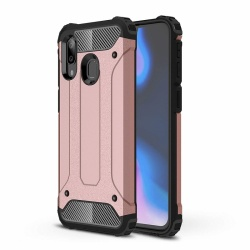 Samsung Galaxy A20 / A30 Dual Layer Hybrid Soft TPU Shock-absorbing Protective Cover Rosegold