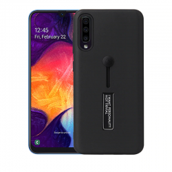 Samsung Galaxy A50 Kickstand Shockproof Cover Black