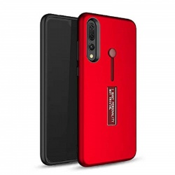 Samsung Galaxy A7 2018  Kickstand Shockproof Cover Red