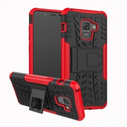 Samsung Galaxy A8(2018) Tyre Defender Red