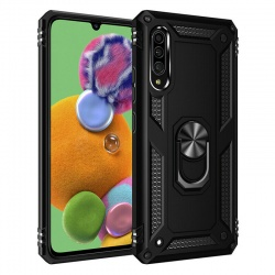 Samsung Galaxy A90 5G Case - Black Ring Armor