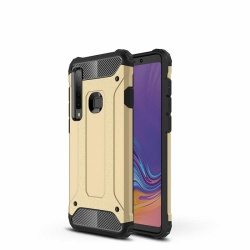 Samsung Galaxy A9(2018) Dual Layer Hybrid Soft TPU Shock-absorbing Protective Cover Gold