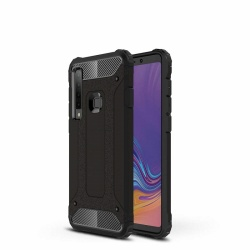 Samsung Galaxy A9(2018) Dual Layer Hybrid Soft TPU Shock-absorbing Protective Cover Black