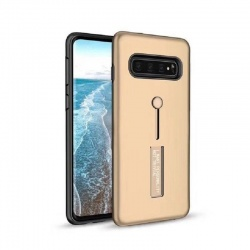 Samsung Galaxy S10 Kickstand Shockproof Cover Gold