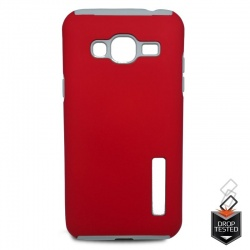 Samsung Galaxy J3(2016) Dual Layer Case Red