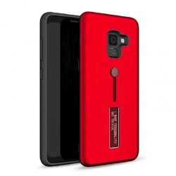 Samsung Galaxy J4 Plus Kickstand Shockproof Cover Red