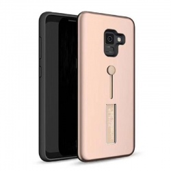 Samsung Galaxy J4 Plus Kickstand Shockproof Cover Rosegold