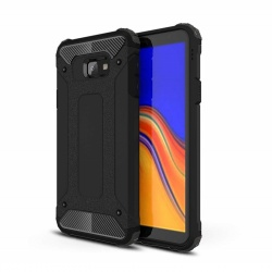 Samsung Galaxy J4 Plus Dual Layer Hybrid Soft TPU Shock-absorbing Protective Cover Black