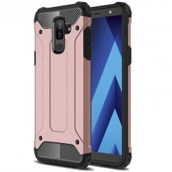 Samsung Galaxy J6 Plus Dual Layer Hybrid Soft TPU Shock-absorbing Protective Cover Rosegold