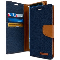 Samsung Galaxy J6 Plus 2018 Canvas Wallet Case Denim
