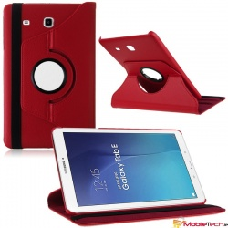 Samsung Galaxy Tab E T560 9.6'' Rotating Case Red