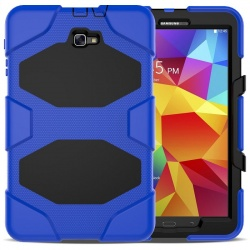 Samsung Galaxy Tab A Case 10.1 T580 -  Heavy Duty Rugged  Shockproof Drop Protection Cover With Kickstand Blue