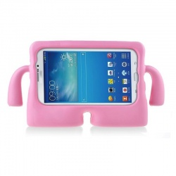Universal Tablet 10 inch Case for Kids Rubber Shock Proof Cover with Carry Handle Babypink