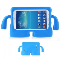 Samsung Galaxy Tab A 7 Inch T280 / T285 Kids Rubber Shock Proof Cover with Carry Handle Blue