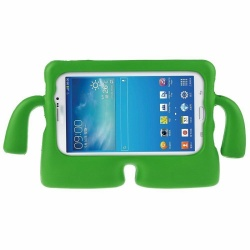 Samsung Galaxy Tab A 7 Inch T280 / T285 Kids Rubber Shock Proof Cover with Carry Handle Green