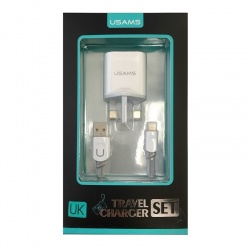 Home Charging Adapter With Lightning Cable|USAMS