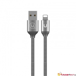 USAMS  Lightning Breathing Light Data & Charging Cable  1.2m- Silver