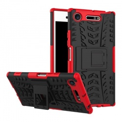 Sony Xperia XZ Premium Tyre Defender Cover Red