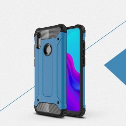 Huawei Y6 2019 Dual Layer Hybrid Soft TPU Shock-absorbing Protective Cover Blue
