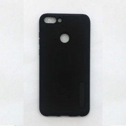 Huawei P Smart  Shockproof Dual Layered Back Case Black