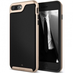 iPhone 7/8 Plus   Envoy Series Case - Carbon Fiber Black