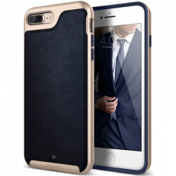 iPhone 7/8 Plus   Envoy Series Case - Leather Navy Blue