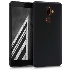 Nokia 7 Plus Silicon  Black Cover