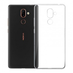 Nokia 7 Plus Silicon Clear Cover