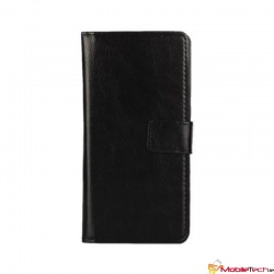 Alcatel A3 PU Leather Wallet Case Black
