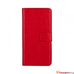 Alcatel A3 PU Leather Wallet Case Red