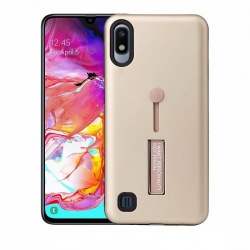 Samsung Galaxy A10 Kickstand Shockproof Cover Gold