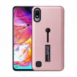 Samsung Galaxy A10 Kickstand Shockproof Cover Rosegold