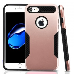 iPhone 7 / iPhone 8 Case ASMYNA Rose Gold/Black Hybrid Protector