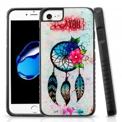 iPhone SE(2nd Gen) and iPhone 7/8 Case MYBAT Dreamcatcher Love Gel/Black Fusion Protector Cover