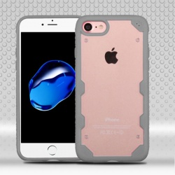 iPhone 7 / iPhone 8 Case MYBAT Transparent Clear/Iron Gray FreeStyle Challenger Hybrid Protector Cover