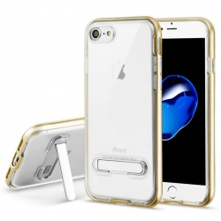 iPhone 7 / iPhone 8 Case Clear Hybrid Protector- Gold